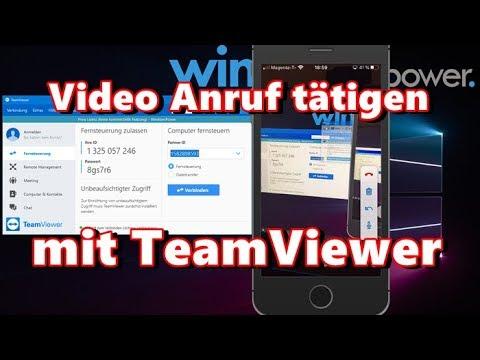 Mit TeamViewer Video Anruf tätigen - YouTube