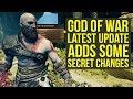 God of War Update Adds Some SECRET CHANGES - Return Of Missable Gem & More! (God of War 4 Update)