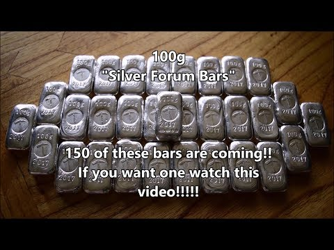 """Important Update on the 100g """"Silver Forum Bars"""" - They are coming soon!"""