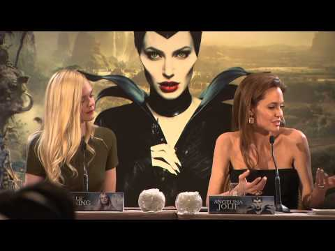Maleficent: Paris France Press Conference Part 2 of 4 - Angelina Jolie & Elle Fanning