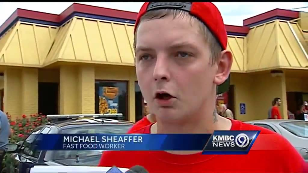 Local fast food workers join 1 day strike