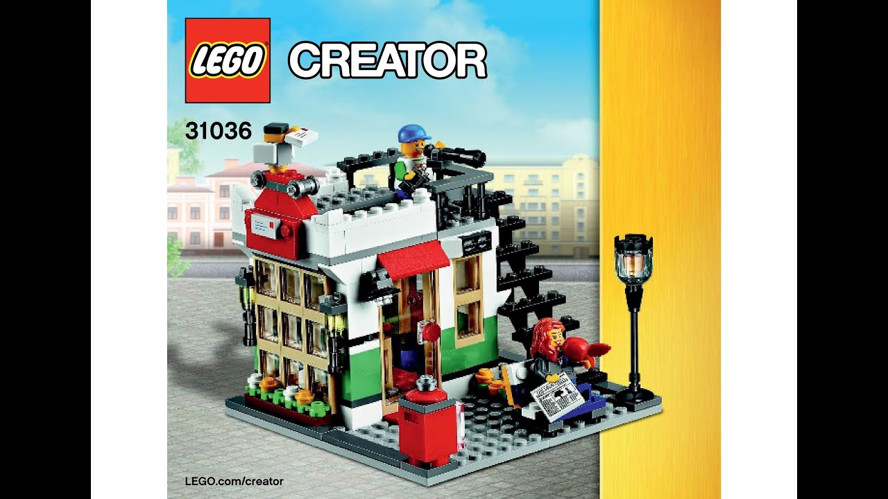 Lego 31036 post office instructions lego creator 3 in 1 2015 youtube - Post office working today ...