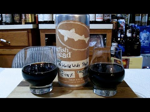 DogFish Head World Wide Stout Bourbon Barrel Aged - 2018 (18% ABV) DJs BrewTube Beer Review #1178