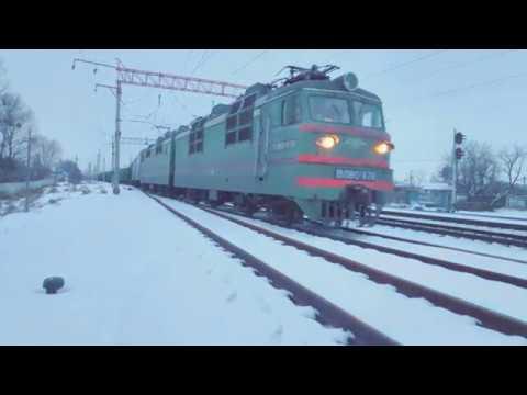 Вечернее движение по ст.Белая Церковь// Evening Traffic Train Station Bila Tserkva