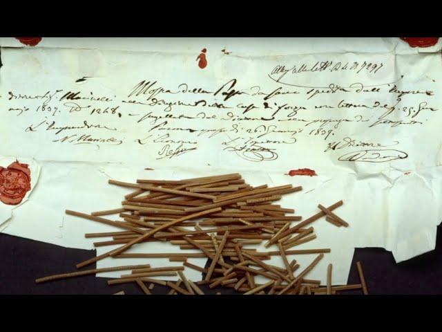 I MUSEI RACCONTANO - 2.  Lo spaghetto più antico del mondo (1837-1838)