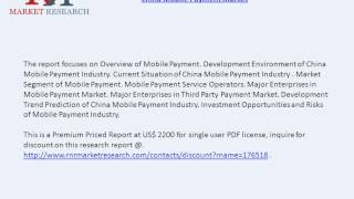 Overview of Mobile Payment market in China