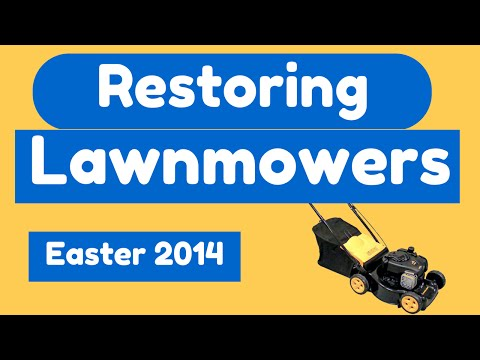 Restoring Lawnmowers: Easter Weekend In The Garden