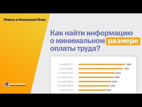 Как найти информацию о минимальном размере оплаты труда?