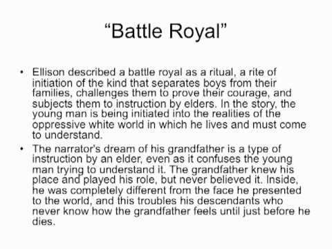an overview of the protagonist in battle royal novel by ralph ellison A detailed discussion of the writing styles running throughout battle royal or, the invisible man ralph ellison of the battle royal as the narrator.