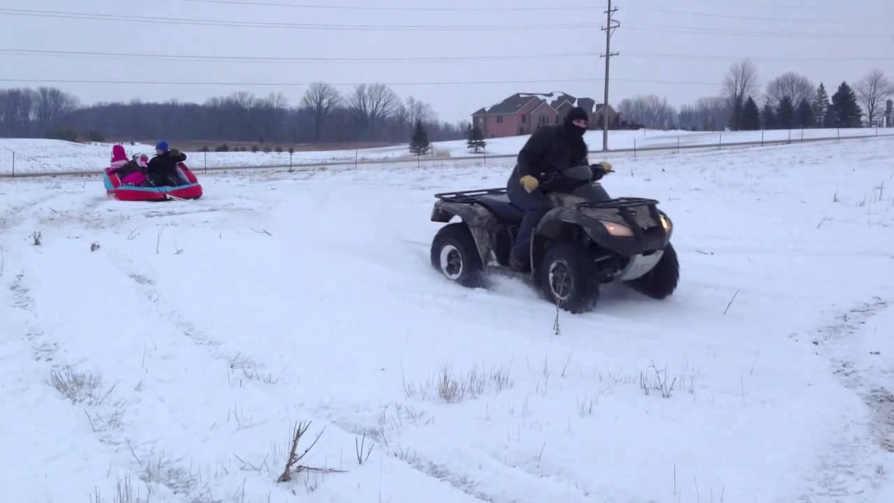 Snow Tubing Atv Youtube