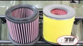 atv television k performance air filter on suzuki king quad 750