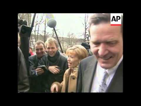 GERMANY: GERHARD SCHROEDER VICTORIOUS IN LOWER SAXONY ELECTION