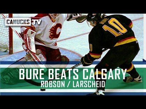 Pavel Bure Goal (radio) - Game 7 vs Calgary Flames - YouTube