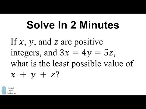 Tricky GRE Test Problem – Solve In 2 Minutes – Mind Your Decisions