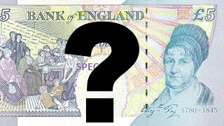 WHO IS THIS WOMAN??? (British 5 Pound Note)