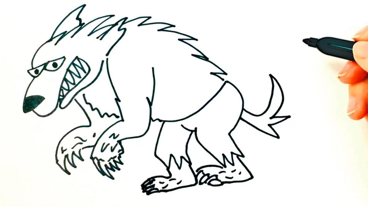 Dibujo De Hombre Lobo Para Colorear: Dibujos De Un Hombre Lobo