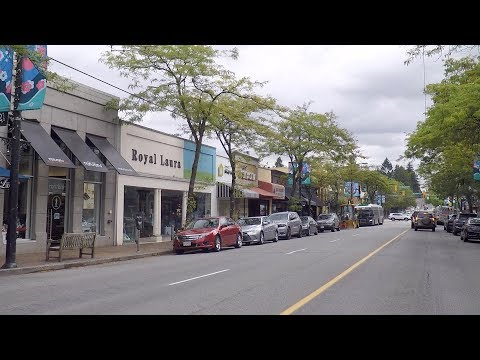 Driving From Vancouver To Burnaby BC Canada. 41st To 49th Avenue To Imperial Street.