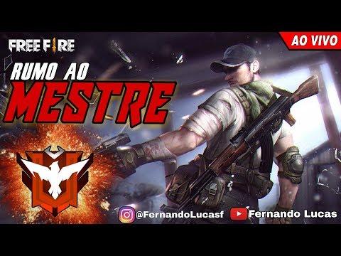 🔴 AO VIVO! FREE FIRE! PEGANDO MESTRE SOLO! DIAMANTE 3