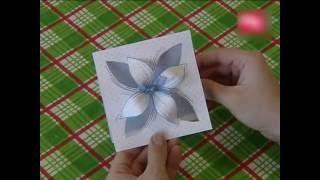 HAND MADE Открытка с объемным цветком