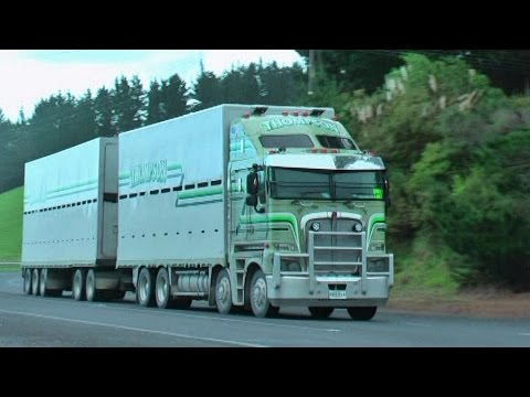 Trucks on the road north of Auckland NZ