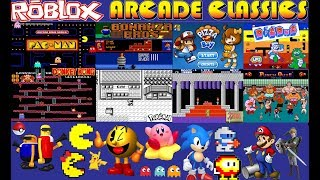 Roblox Classic Arcade Games! Roblox Pac-Man~Donkey Kong~Punch Out~Mario~Kirby + More!!
