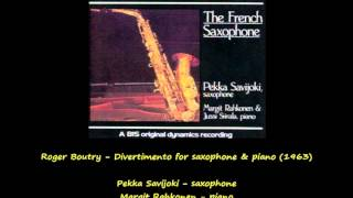 Roger Boutry - Divertimento for Saxophone and Piano (1963)