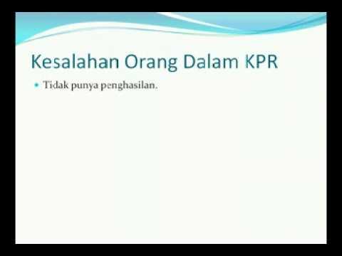 003 PERSYARATAN KPR dan KESALAHAN ORANG DALAM KPR  | 99% KPR Disetujui