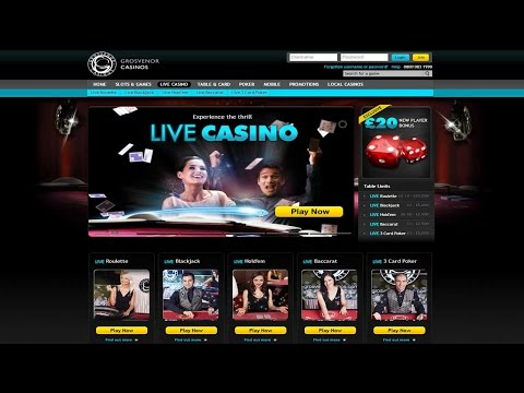 Grosvenor Live Casino games demo