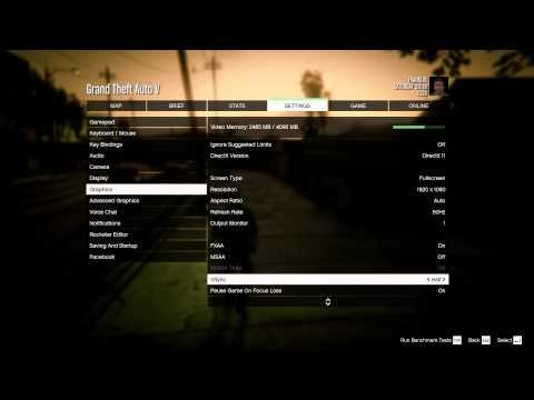 Grand Theft Auto V - PC Vsync Menu Lag