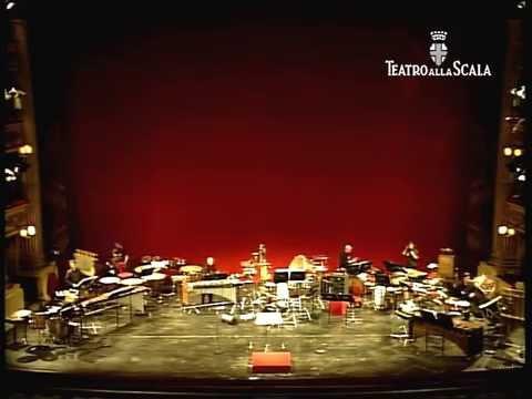 AGO by Ailem Carvajal (2010) for percussion ensemble, Teatro alla Scala, Milan.