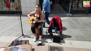 "Jodie Knight covered live in the street ""September"" (Earth, Wind and Fire)"
