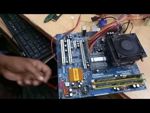 How to repair Asrock motherboard   repair  ram Slot/channel   no display   bangla tutorial
