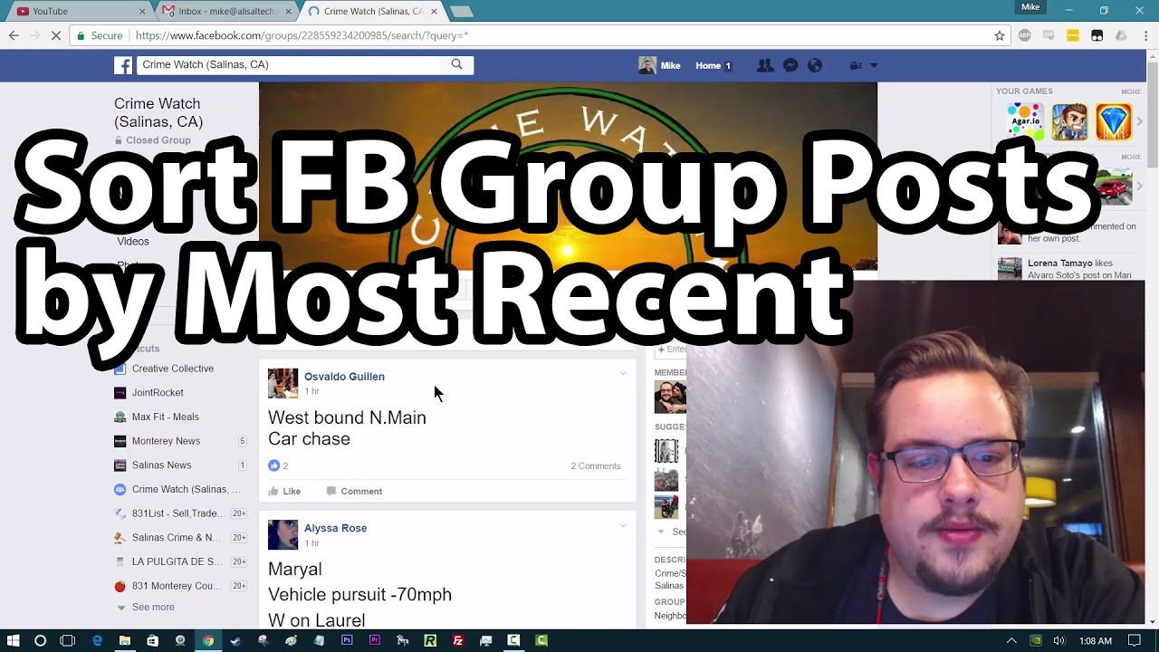 Quick Tip: Sort Facebook Group Posts by Most Recent