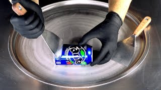 ASMR - blue Fanta Berry Ice Cream Rolls | tapping & scratching ear to ear relaxing Sound - fast ASMR