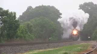 Norfolk & Western J-class #611 test run, Spencer to Greensboro NC, May 2015