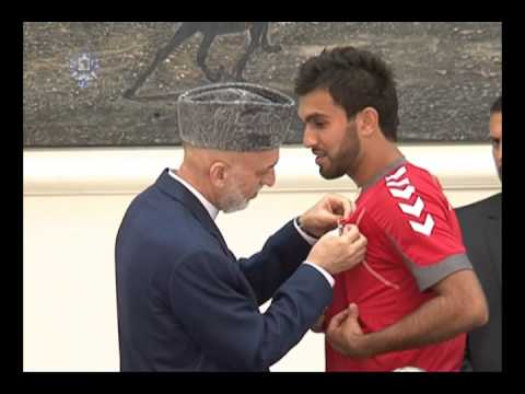 President Karzai received today our Heroes, Afghan National Football Team, 14.Sep. 2013