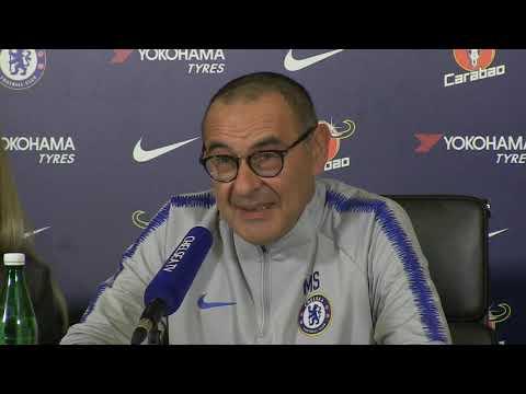 Chelsea vs Manchester United | Maurizio Sarri Pre Match Press Conference | Premier League