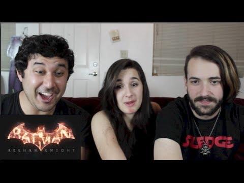 BATMAN: ARKHAM KNIGHT TRAILER REACTION!!!