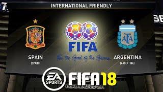 FIFA 18   Spain vs Argentina   International Friendly 2018   Prediction Gameplay