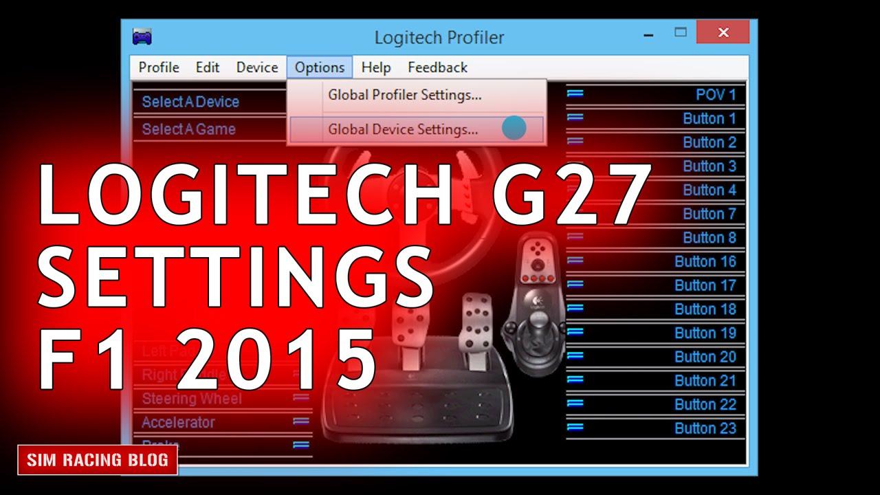 logitech g27 f1 2015 settings youtube. Black Bedroom Furniture Sets. Home Design Ideas
