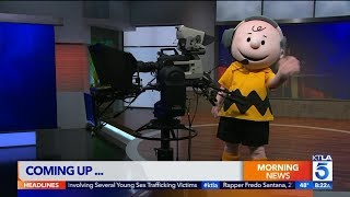Peanuts Characters Take Over KTLA 5 Weekend Morning News - Highlights