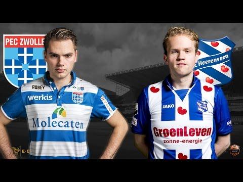 Stefan Vellinga - Niels Krist | PEC Zwolle - SC Heerenveen | Speelronde 33 | E-Divisie