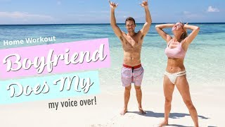 Boyfriend Does My Voiceover - HILARIOUS! | Rebecca Louise