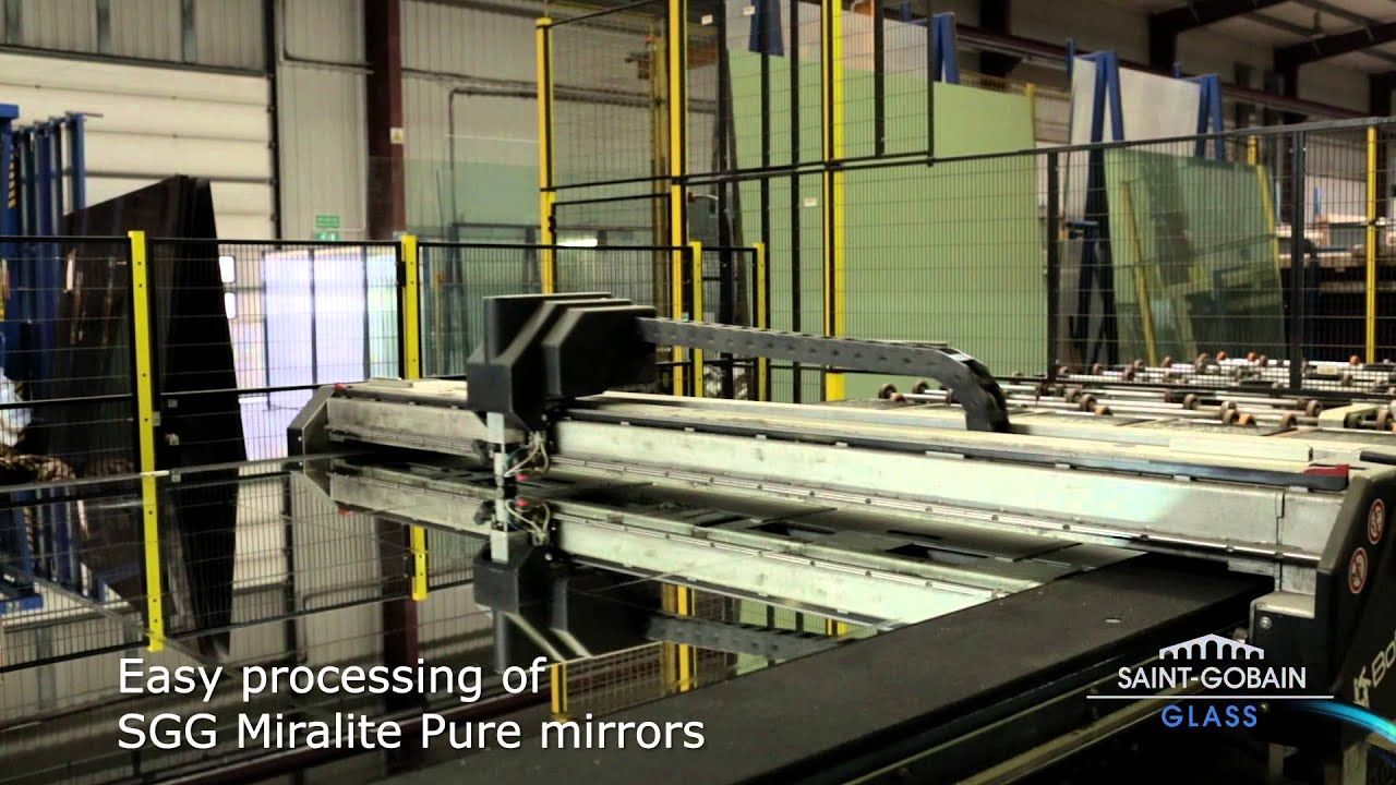 Manufacturing process of eco friendly mirror sgg miralite for Mirror manufacturers