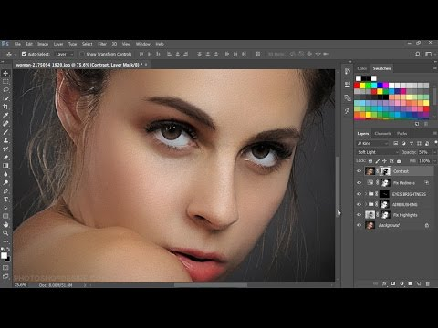 How to Retouch and Airbrush Skin in Photoshop - Frequency Separation Retouching Technique