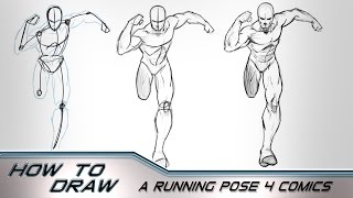 How to Draw A Character Running Towards the Camera - Comics
