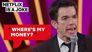 """""""i didn't drink water the entire time. i lived on cigarettes and alcohol adderall.""""watch john mulaney: kid gorgeous, only netflix. https://www.netflix..."""