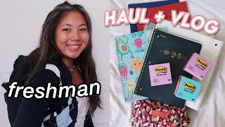 back to school supplies shopping + HAUL (high school freshman)