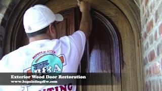 Wood Door Restoration   Dallas Ft. Worth   Exterior Door Refinishing