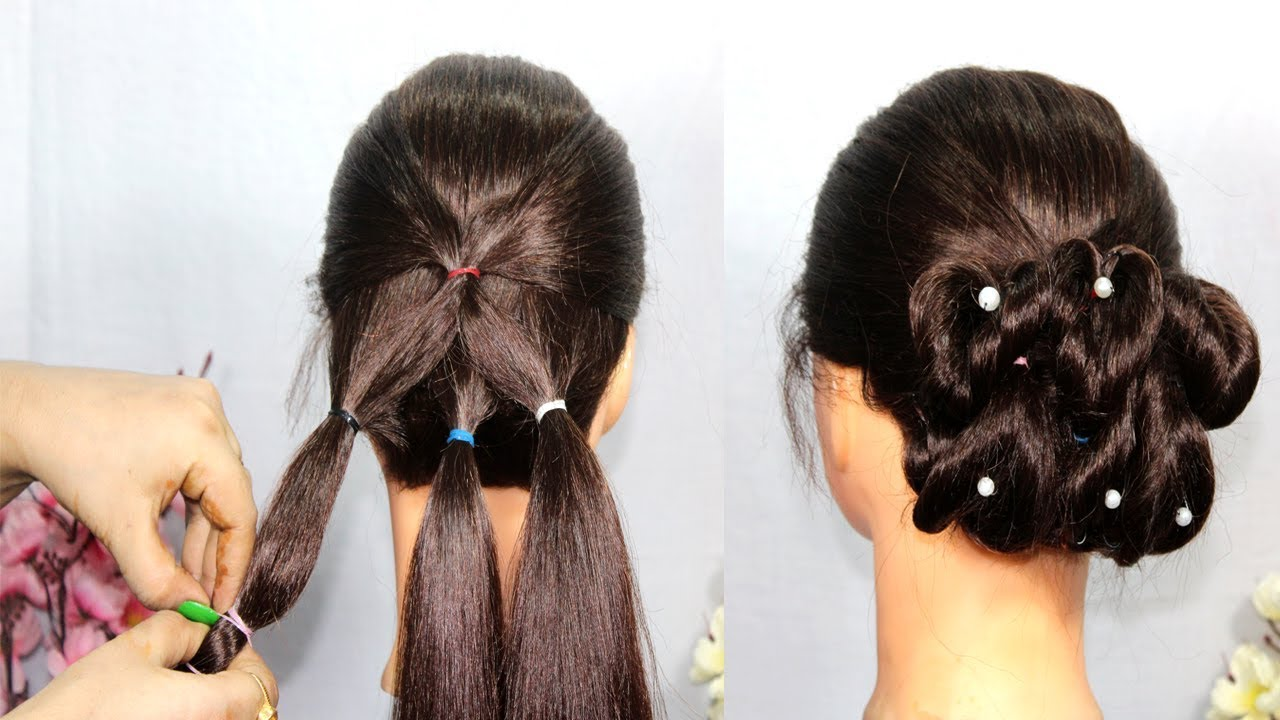 Very Easy Heart Bun Hairstyles Step By Step Try On Hairstyle Simple Hairstyles New Hairstyles